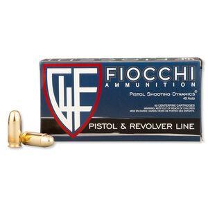 Fiocchi Shooting Dynamics .45 ACP Ammunition 230 Grain Full Metal Jacket 860 fps