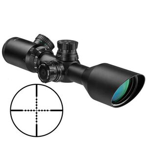 Barska Sniper 3-9x42 Riflescope IR Red and Green Mil Dot Reticle 2nd Gen 1/4 MOA Matte Black with Rings AC11668