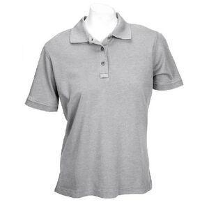 5.11 Tactical Women's Short Sleeve Tactical Polo Cotton Small Heather Gray 61164