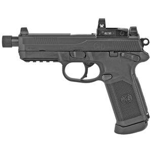 "FN FNX-45 Tactical Semi Auto Handgun .45 ACP 5.3"" Threaded Barrel 15 Rounds Fixed 3 Dot Night Sights Vortex Venom Red Dot Ambidextrous Black"