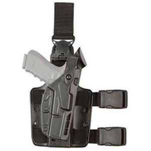 Safariland 7005 7TS SLS Tactical Leg Drop Holster Fit Walther P99Q/PPQ M1/M2 Right Hand SafariSeven STX Tactical Finish Matte Black