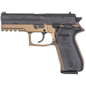 "FIME Group Rex Zero 1S Semi Auto Pistol 9mm Luger 4.3"" Barrel 17 Rounds Metal Frame FDE/Black"