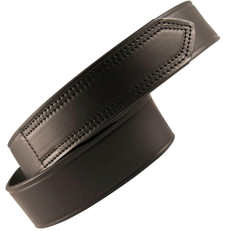 "Boston Leather Garrison Belt 38"" Leather Plain Black"
