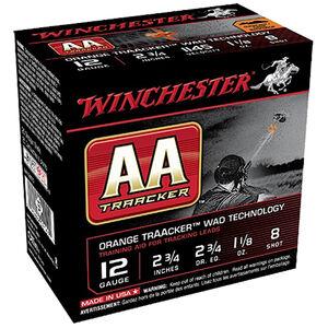 "Winchester USA AA Orange TrAAker Wad 12 Gauge Ammunition 2-3/4"" #8 Lead Shot 1-1/8 oz 1145 fps"