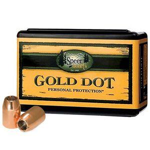 """Speer Gold Dot 9mm Caliber .355"""" Handgun Bullets 100 Count Bonded JHP 124 Grains 3998"""