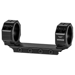 Warne Skyline Precision One Piece Scope Mount 30mm Tube Diameter Ultra High Ring Height/MSR/AR-15 Compatible 7075-T6 Billet Aluminum Matte Black Finish