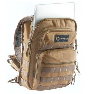 "DRAGO Gear Sentry Pack for iPad or Tablet 13""x10""x7"" 600D Polyester Tan 14306TN"