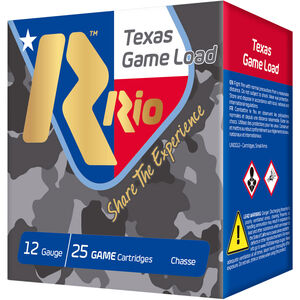 "RIO Ammunition Texas Game Load HV 12 Gauge Ammunition 250 Rounds 2-3/4"" Shell #8 Lead Shot 1-1/4oz 1330fps"