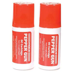 Mace Pepper Gun Refill Cartridges 2 OC Pepper Pack