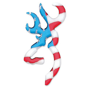 "Browning 3D Buckmark Decal 6"" Vinyl Red White and Blue"