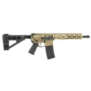 """LWRC IC DI AR-15 5.56 NATO Semi Auto Pistol 10.5"""" Barrel 30 Rounds M-LOK Free Float Rail System SB Tactical SB4M Pistol Brace Flat Dark Earth Finish"""