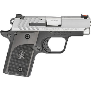 "Springfield 911 Alpha .380 ACP Semi Auto Pistol 2.7"" Barrel  6 Rounds Stainless Slide Anodized Frame"