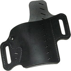 VersaCarry Recruit Holster Size 3 Most Sub-Compact Pistols OWB Belt Slide Holster with Forward Cant and Raised Back Right Handed Leather Black