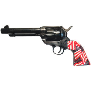 """E.M.F. GWII Freedom .45 LC Revolver 5.5"""" Barrel 6 Rounds US Flag Grip Laser Engraved Black Finish"""