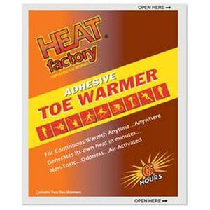 Heat Factory Adhesive Toe Warmer 6 Hours 40 Pair 1945BX