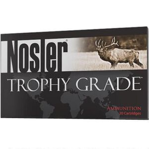 Nosler Trophy Grade .22 Nosler Ammunition 20 Rounds 70 Grain AccuBond Projectile 2900fps