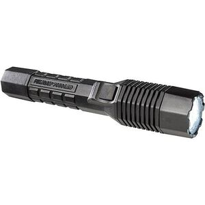 Pelican LAPD Tactical Flashlight LED 175 Lumens 110 Volt Transformer Battery Black Charger Base Black PP7060