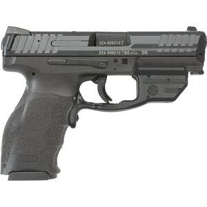"""H&K VP9 Semi Auto Pistol 9mm Luger 4.09"""" Barrel 15 Rounds Striker Fired 3-Dot Sights Crimson Trace Red Laser Polymer Frame Black Finish"""