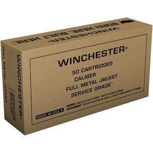 Winchester Service Grade .380 ACP Ammunition 50 Rounds 95 Grain Full Metal Jacket