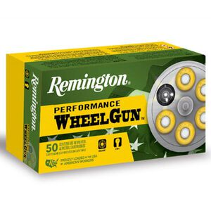 Remington Performance WheelGun .38 Special Ammunition 50 Rounds 158 Grain Lead Round Nose 755fps