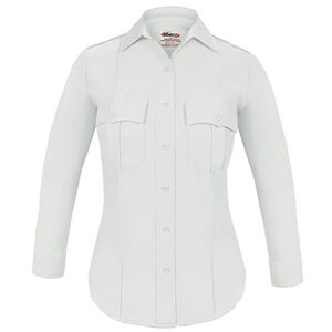 Elbeco TEXTROP2 Women's Long Sleeve Shirt Size 32 100% Polyester Tropical Weave White