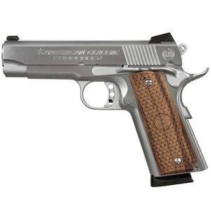 "American Classic Commander 1911 Semi Auto Pistol 9mm Luger 4.25"" Barrel 8 Rounds Wood Grips Chrome Finish ACC9C"