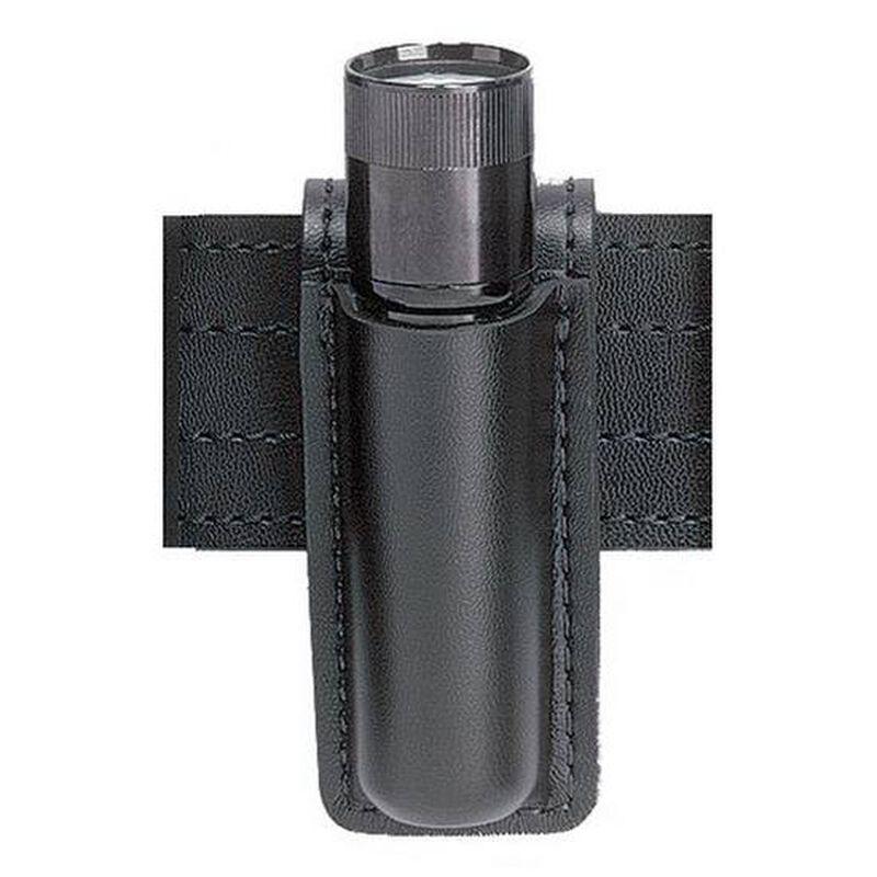 "Safariland Model 306 Open Top Mini-Flashlight Holder Fits 1"" x 3.56"" Lights Basket Weave Black 306-2-4"