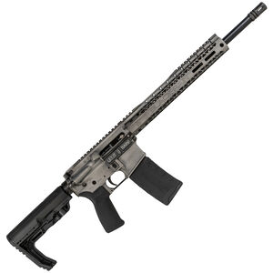 "Black Rain BRO Fusion AR-15 5.56 NATO Semi Auto Rifle 16"" Barrel 30 Rounds M-LOK Slim Handguard MFT Stock Titanium Battleworn"
