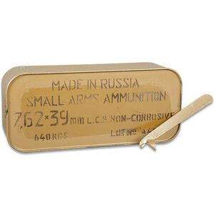 TulAmmo 7.62x39mm Ammuntion 122 Grain Zinc JHP Steel Cased 2330 fps