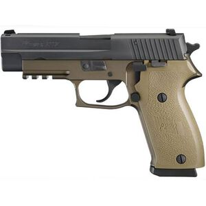"""SIG Sauer P220 Semi Automatic Handgun .45 ACP 4.4"""" Barrel 10 Rounds SIGLITE Night Sites Two Tone Polymer Frame and Grips FDE Nitron Finish Slide Black 220-45-CP-DS"""