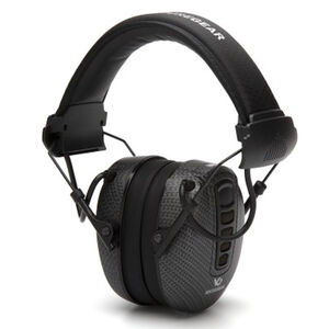 Pyramex VGPME17 Series Electronic Earmuff 24dB Noise Reduction Rating 2 AAA Batteries Omni Directional Microphone Graphite Finish