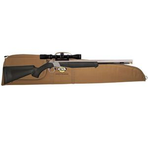 CVA Wolf Break Action Single Shot Black Powder Rifle .50 Caliber Konus 3-9x40mm Scope Black Synthetic Stock Stainless Steel Finish PR2110SSC