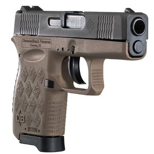 "Diamondback Firearms DB9 Semi Auto Handgun 9mm Luger 3.0"" Barrel 6 Rounds Flat Dark Earth Frame DB9FDE"