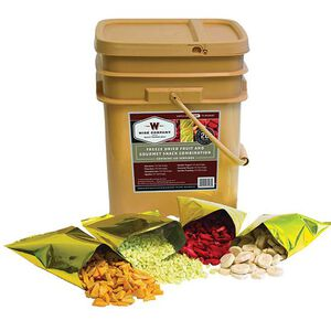 Wise Foods Long Term 120 Serving Freeze Dried Fruit and Snack Combo Bucket 72 Servings of Fruit with 48 Servings of Sauces 40-50120