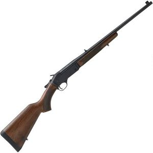 """Henry Repeating Arms Single Shot Youth .243 Win Break Action Rifle 22"""" Barrel 1 Round Adjustable Rear Sight Walnut Stock Blued Finish"""
