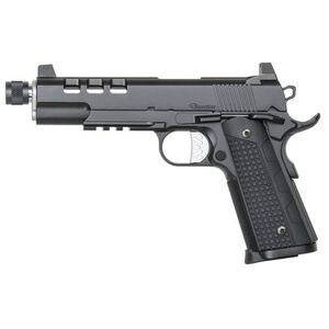 "Dan Wesson 1911 Discretion Government Semi Auto Pistol .45 ACP 5.75"" Threaded Barrel 8 Rounds Suppressor Height Night Sights G-10 Grips Stainless Steel Frame Black Duty Finish"