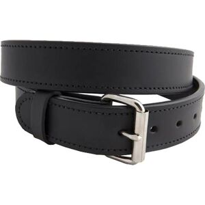 """Versacarry Double Ply 1.5"""" Leather Belt Nickel Plated Buckle Size 36 Black 301/38"""