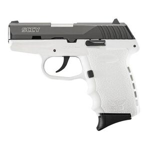"""SCCY Industries CPX-2 Semi Auto Pistol 9mm Luger 3.1"""" Barrel 10 Rounds White Polymer Frame Black Slide CPX-2CBWT"""