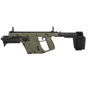 "Kriss USA Kriss Vector Gen II SDP-SB Enhanced 9mm Luger Semi Auto Pistol 6.5"" Barrel 17 Rounds Pistol Stabilizing Brace Olive Drab Green Finish"