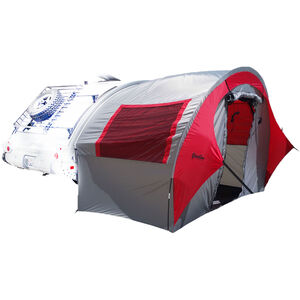PahaQue TAB Trailer Side Tent Color: Silver Gray with Silver/Red Trim