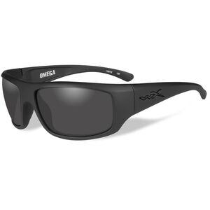 WileyX Active Lifestyle Series Omega Sunglasses, Smoke Grey Lens, Mattle Black Frame ACOME01