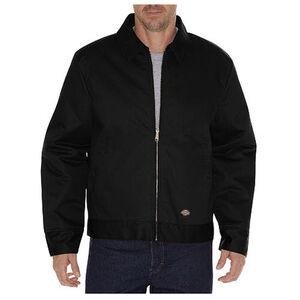 Dickies Men's Insulated Eisenhower Twill Jacket Large Regular Black TJ15BK