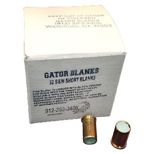Gator Blanks .32 S&W Black Powder Blanks 50 Round Box A00011