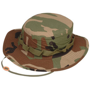 Tru-Spec Military Boonies Hat 7.5 100% Cotton Woodland