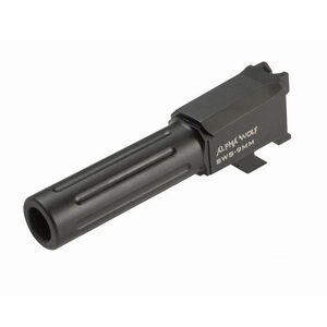 Lone Wolf Distributers Alpha Wolf Drop In Replacement Barrel Smith & Wesson M&P Shield 9mm Luger Salt Bath Nitride Finish