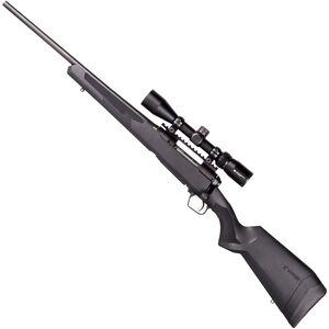 "Savage 110 Apex Hunter XP Left Hand Bolt Action Rifle .300 Win Mag 24"" Barrel 3 Rounds DBM Vortex Crossfire II 3-9x40 Riflescope AccuTrigger Synthetic Stock Matte Black Finish"