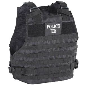 Voodoo Tactical Plate Carrier Vest Police/ICE Large to XL Black 20-902901329