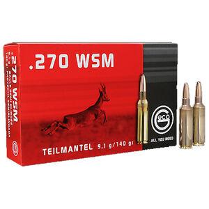 GECO .270 Winchester Short Magnum Ammunition 20 Rounds 140 Grain Soft Point