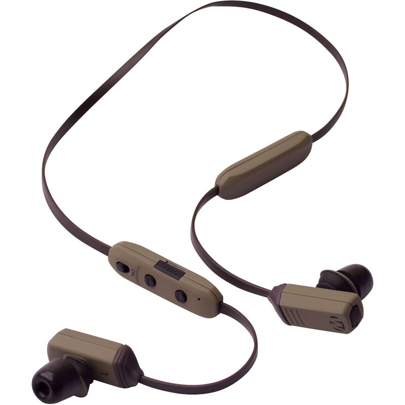 Walkers Game Ear Rope Hearing Enhancer, Neck Worn Earbud Electronic Headset, Black/Gray