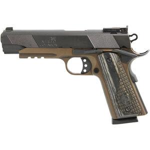 "Iver Johnson Eagle LR .45 ACP 1911 Government Semi Auto Handgun 5"" Barrel 8 Rounds Series 70 Style Accessory Rail Blued/Midnight Bromze"